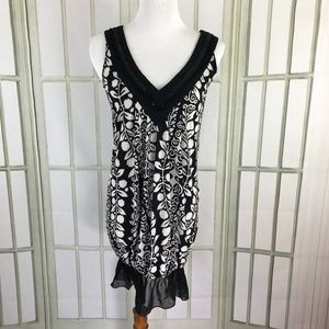 Tops - Slinky Stretch Tunic Top Sequin V Neck Sleeveless
